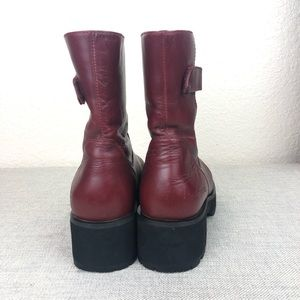 Simple Shoes - Simple Combat Red Boots sz 8